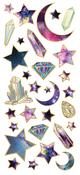 """Star Gazer, 31/Pkg - Paper House Sticky Pix Faux Enamel Stickers 8""""X3"""""""