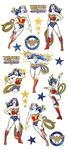 "Wonder Woman - Paper House Sticky Pix Faux Enamel Stickers 8""X3"""
