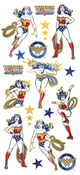 "Wonder Woman - Paper House Sticky Pix Faux Enamel Stickers 8""X3"""