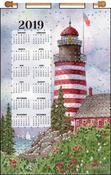 Red Lighthouse - Design Works 2019 Calendar Felt Applique Kit
