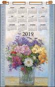 Pastel Floral - Design Works 2019 Calendar Felt Applique Kit