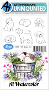 Dogs - Art Impressions Watercolor Cling Rubber Stamps