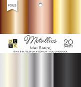 """Metallics Foil Solid - DCWV Single-Sided Cardstock Stack 6""""X6"""" 20/Pkg"""