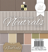 """Corrugated Neutrals - DCWV Single-Sided Cardstock Stack 6""""X6"""" 24/Pkg"""