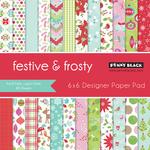 """Festive & Frosty - Penny Black Single-Sided Paper Pad 6""""X6"""" 48/Pkg"""