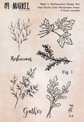 """Gabi's Herbaceous - 49 And Market Clear Stamps 4""""X6"""""""