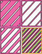 Layered Stripes - Pink And Main Dies