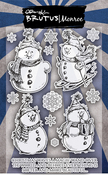 """Snow Friends - Brutus Monroe Clear Stamps 4""""X6"""""""