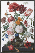 "Still Life W/ Flowers On Aida (18 Count) - Thea Gouverneur Counted Cross Stitch Kit 41.5""X27.5"""