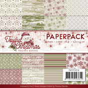 "Playful Christmas, Double-Sided Designs - Find It Trading Precious Marieke Paper Pack 6""X6"" 24/Pkg"