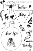 "Owl Always Love You - Flora & Fauna Clear Stamps 4""X6"""