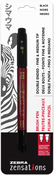 Black - Zebra Zensations Double Ended Fine And Medium Tip Brush Pen