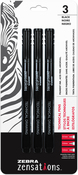 Black, Assorted Point Sizes - Zebra Zensations Technical Pens 3/Pkg