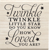 "Twinkle Little Star - Jillibean Soup Mounted Stamp 2.5""X2.5"""
