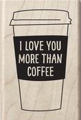 "Coffee Mug Sentiment - Hot Fudge Mounted Stamp 2""X3"""