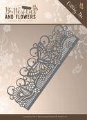 Butterfly Border - Find It Jeanine's Art Classic Butterflies & Flowers Die