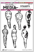 """Abstract Figures - Dina Wakley Media Cling Stamps 6""""X9"""""""