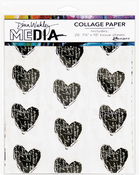 "10 Printed/10 Plain - Dina Wakley Media Tissue Pack 7.5""X10"" 20/Pkg"