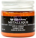 Metallique Gold Amber Paint - Prima
