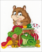 "Hamster & Toad (14 Count) - RIOLIS Counted Cross Stitch Kit 6""X7"""