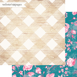 Pretty Plaid Paper - My Happy Place - Websters Pages