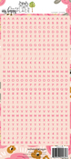 Pink Letter Sticker Sheet - Websters Pages