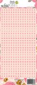 Pink Letter Sticker Sheet - Websters Pages