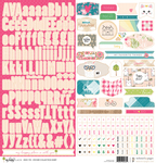 Happy Place 12x12 Sticker Sheet - Websters Pages