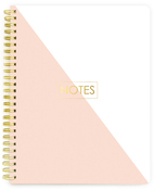 Spiral Notebook - NOTES lined - Websters Pages