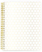 Spiral Notebook - Gold Honeycomb lined - Websters Pages