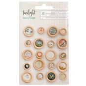 Epoxy Wood Buttons - Twilight - 1Canoe2