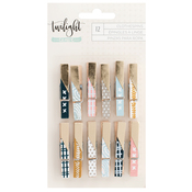Champagne Foil Clothespins - Twilight - 1Canoe2