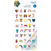 Mini Icons Shimelle Box Of Crayons Puffy Stickers