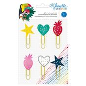 Shimelle Box Of Crayons Glitter Paper Clips