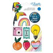 Box Of Crayons Shaker Stickers - Shimelle