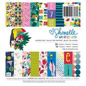 Shimelle Box Of Crayons 6 x 6 Paper Pad