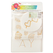 Watercolor Resist Tags - Sunshine & Good Times - Amy Tangerine