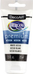 White Gesso - Americana Premium Acrylic Medium Paint Tube 2.5oz