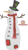 """Patches The Snowman .37"""" To 2.95"""" - Cheery Lynn Designs Die"""