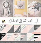 "Posh & Pink W/Holographic Foil - DCWV Double-Sided Paper Stack 12""X12"" 36/Pkg"