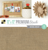 """Natural Burlap - DCWV Single-Sided Specialty Stack 12""""X12"""" 8/Pkg"""
