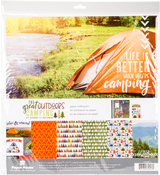 """The Great Outdoors Camping - Paper House Paper Crafting Kit 12""""X12"""""""