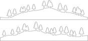 Trees & Hills - Penny Black Creative Dies