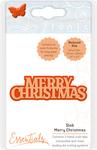 Slab Merry Christmas - Tonic Studios Miniature Moments Sentiment Die