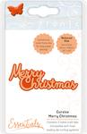 Cursive Merry Christmas - Tonic Studios Miniature Moments Sentiment Die