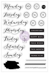 PTJ Bullet Journaling Stamps - These Days - Prima - PRE ORDER