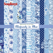 "12 Single-Sided Designs/2 Each - ScrapBerry's Rhapsody In Blue Paper Pack 6""X6"" 24/Pkg"