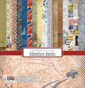 """8 Double-Sided Designs/2 Each - ScrapBerry's Adventure Awaits Paper Pack 12""""X12"""" 16/Pkg"""