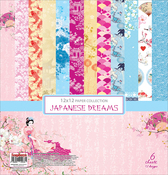"6 Double-Sided Designs - ScrapBerry's Japanese Dreams Paper Pack 12""X12"" 6/Pkg"