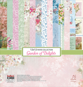 "12 Double-Sided & 4 Single-Sided - ScrapBerry's Garden Of Delights Paper Pack 12""X12"" 16/Pkg"